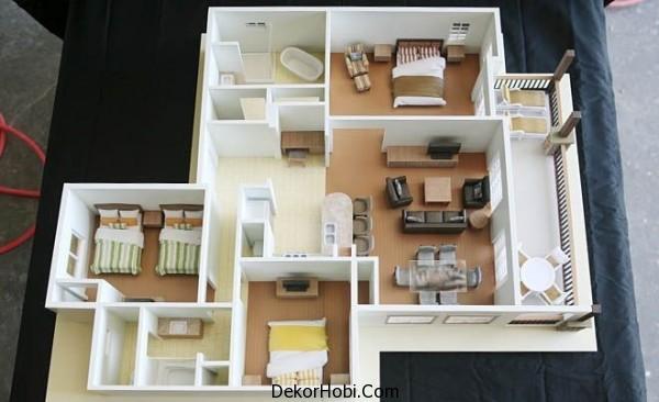 3 Yatak Odalı Daire - Ev Planları 8