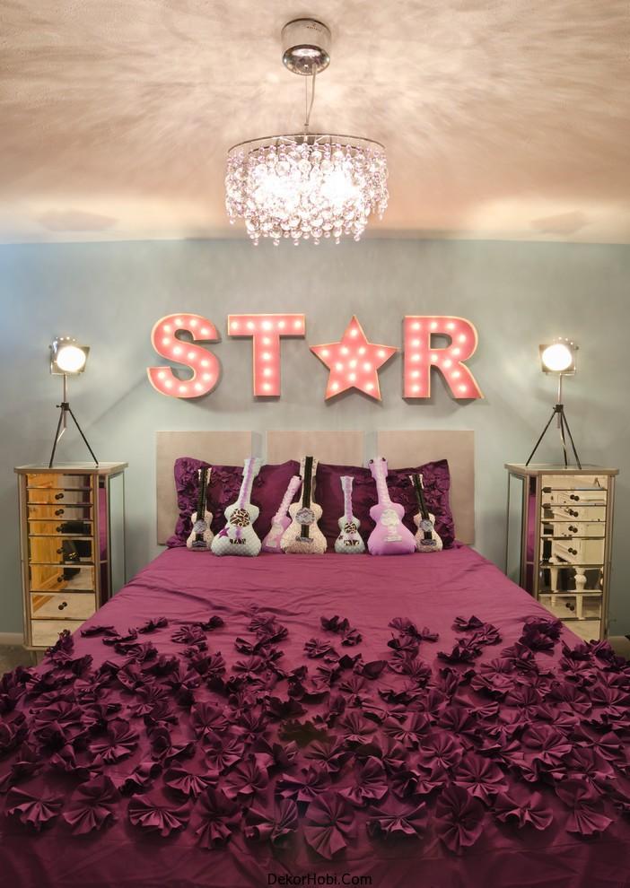 genç kız yatak odası8
