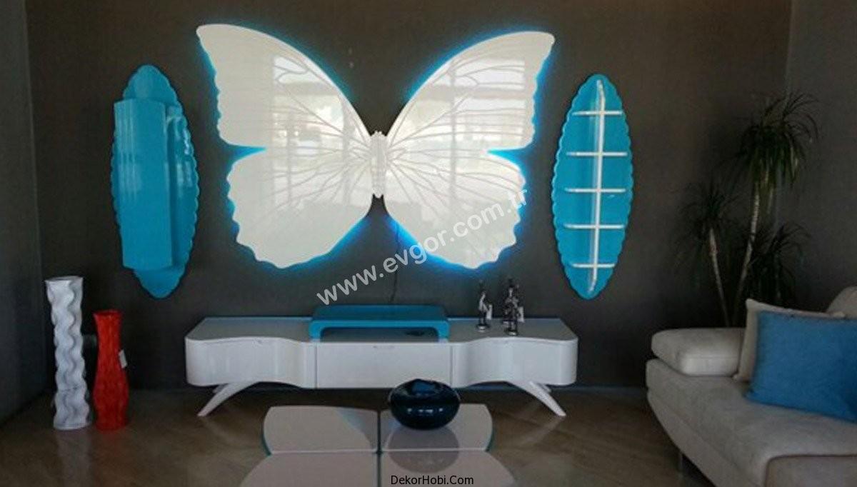 kelebek tasarımlı tv ünitesi
