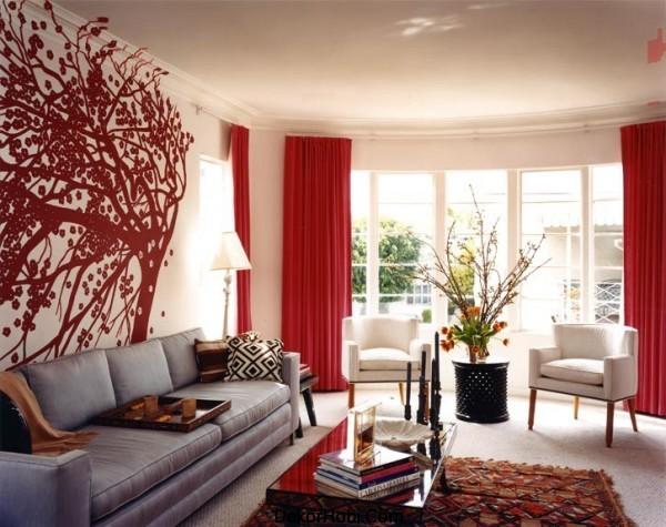 kızıl dekorasyon