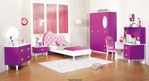 mor renk çocuk odası