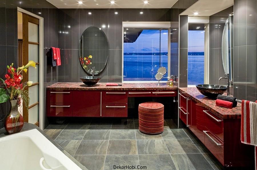 kırmızı banyo dekorasyonu11