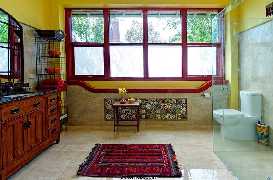 kırmızı banyo dekorasyonu13