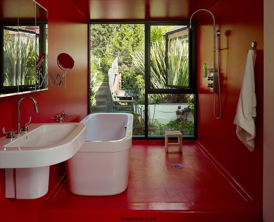 kırmızı banyo dekorasyonu3