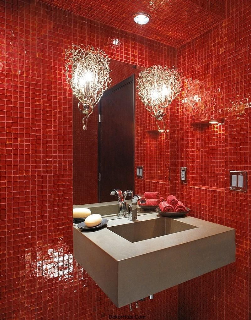 kırmızı banyo dekorasyonu6