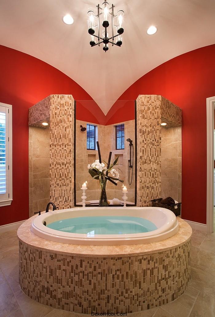 kırmızı banyo dekorasyonu7