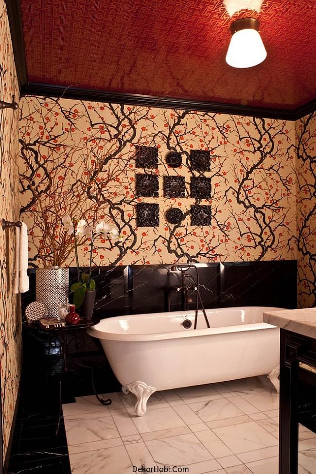 kırmızı banyo dekorasyonu8