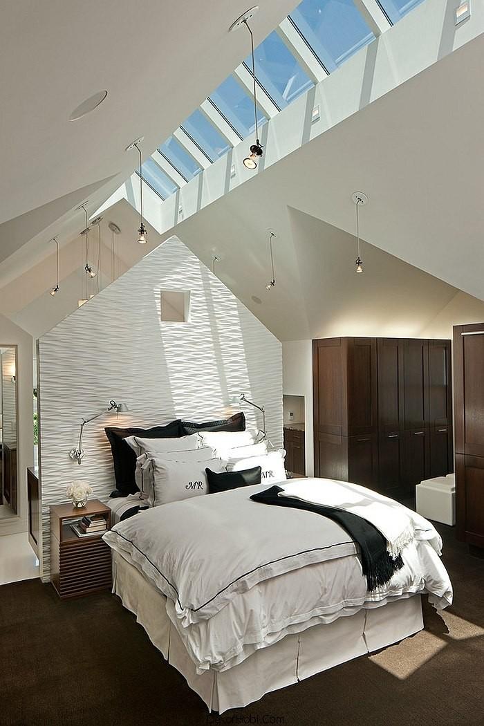 çatı katı yatak odası dekorasyonu10
