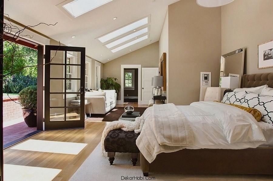 çatı katı yatak odası dekorasyonu2