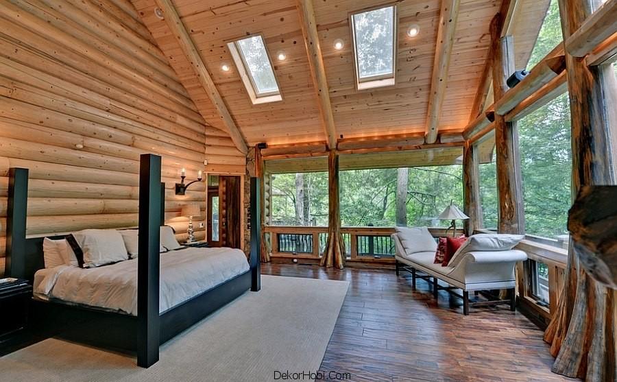 çatı katı yatak odası dekorasyonu3