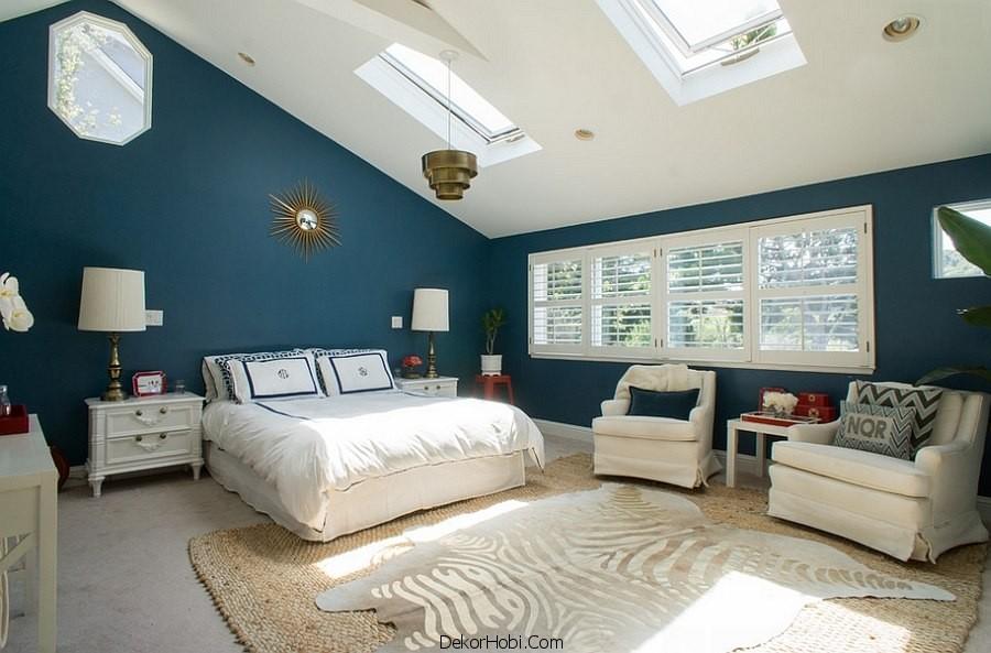 çatı katı yatak odası dekorasyonu4
