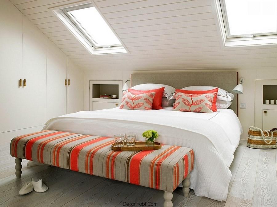 çatı katı yatak odası dekorasyonu6