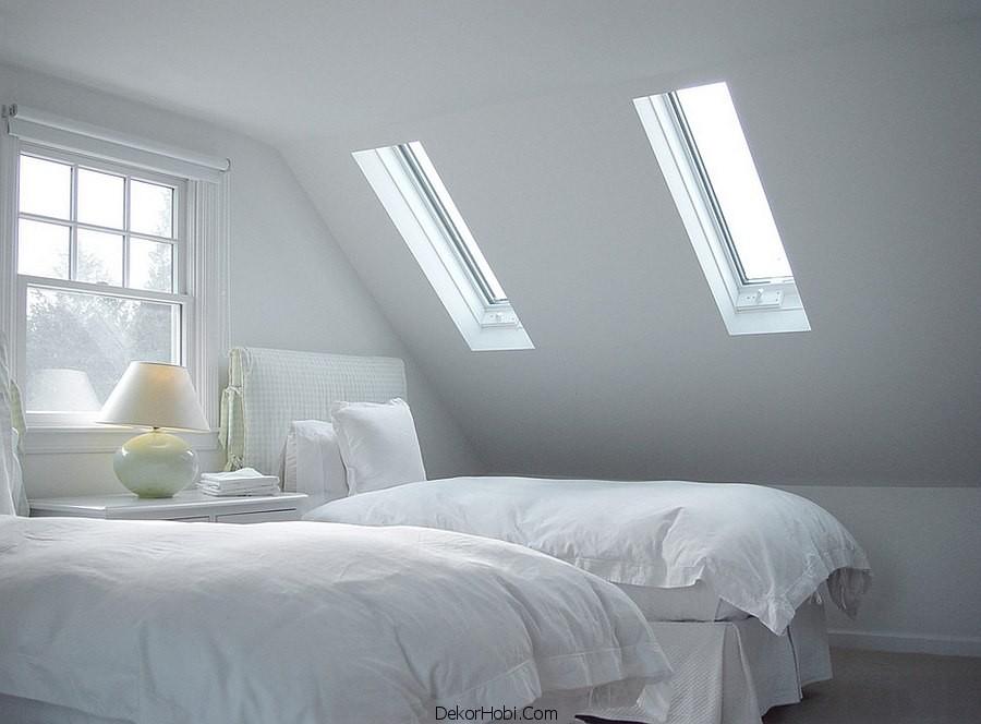 çatı katı yatak odası dekorasyonu7