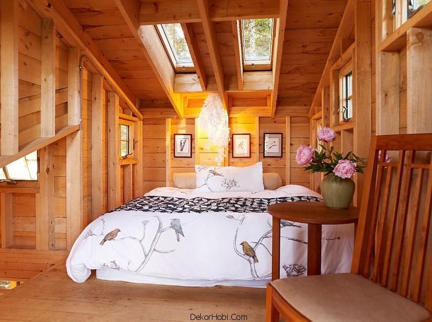 çatı katı yatak odası dekorasyonu8