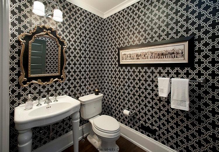 banyoda duvar kağıdı uygulamaları15