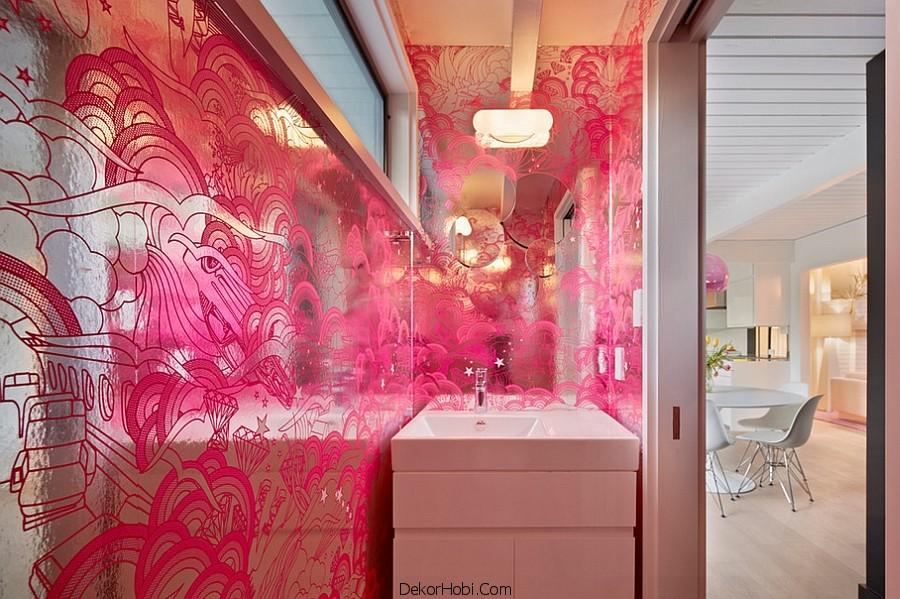 banyoda duvar kağıdı uygulamaları7
