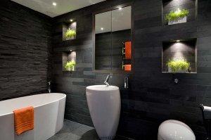 siyah renk banyo tasarımları1