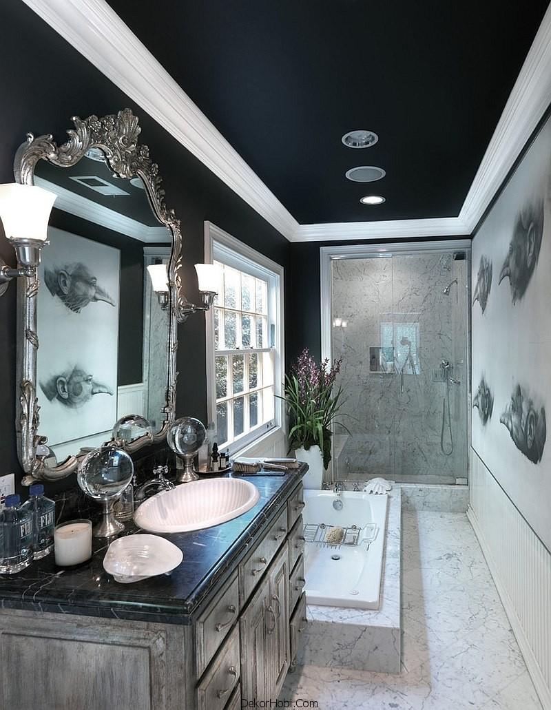 siyah renk banyo tasarımları14