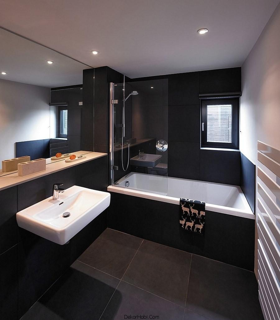 siyah renk banyo tasarımları15