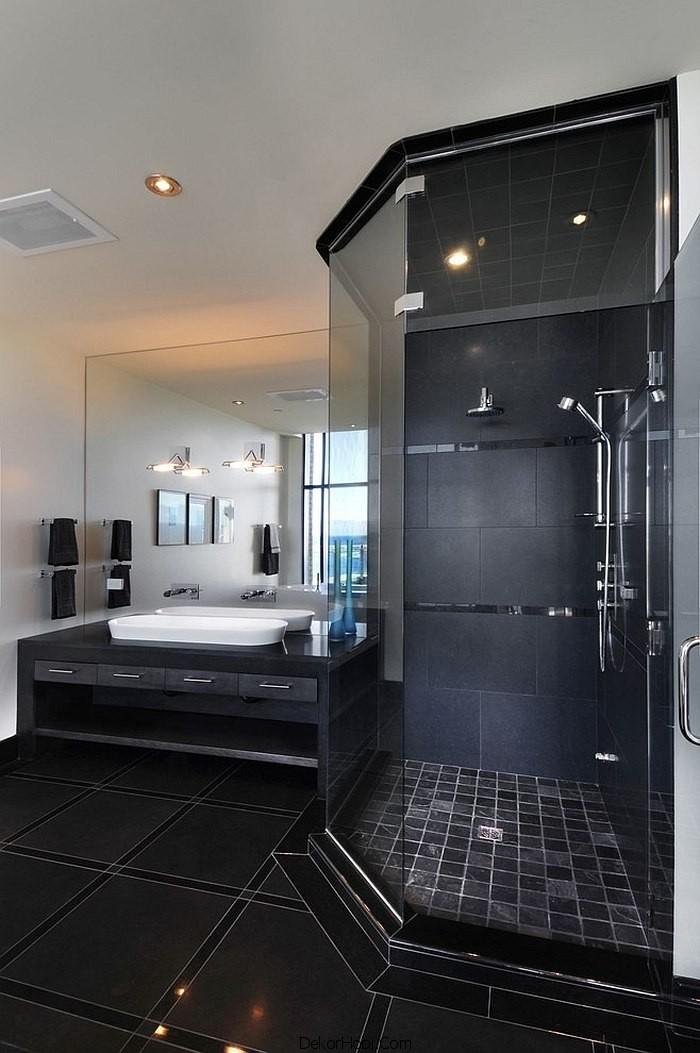 siyah renk banyo tasarımları17