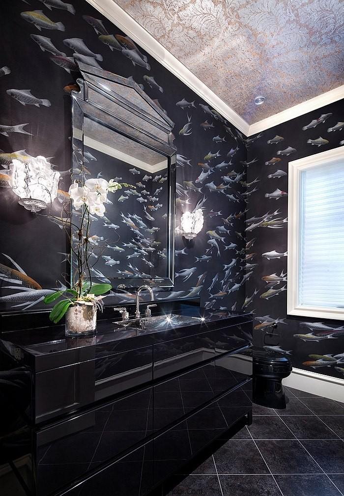 siyah renk banyo tasarımları6