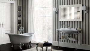 Siyah-Beyaz İtalyan Tarzı Banyo Tasarımı