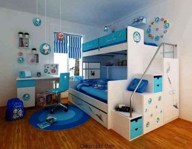 Mavi Çocuk Odası Modelleri Yeni