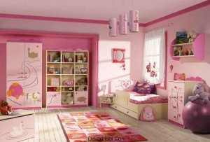 Pembe Çocuk Odası Modelleri Yeni