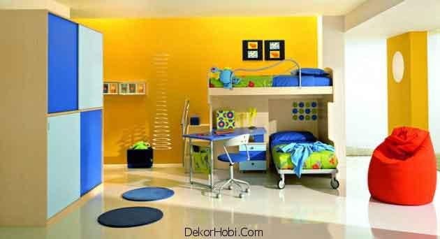 Sarı Mavi Çocuk Odaları