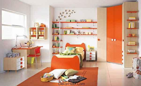 Turuncu Çocuk Odası Modelleri