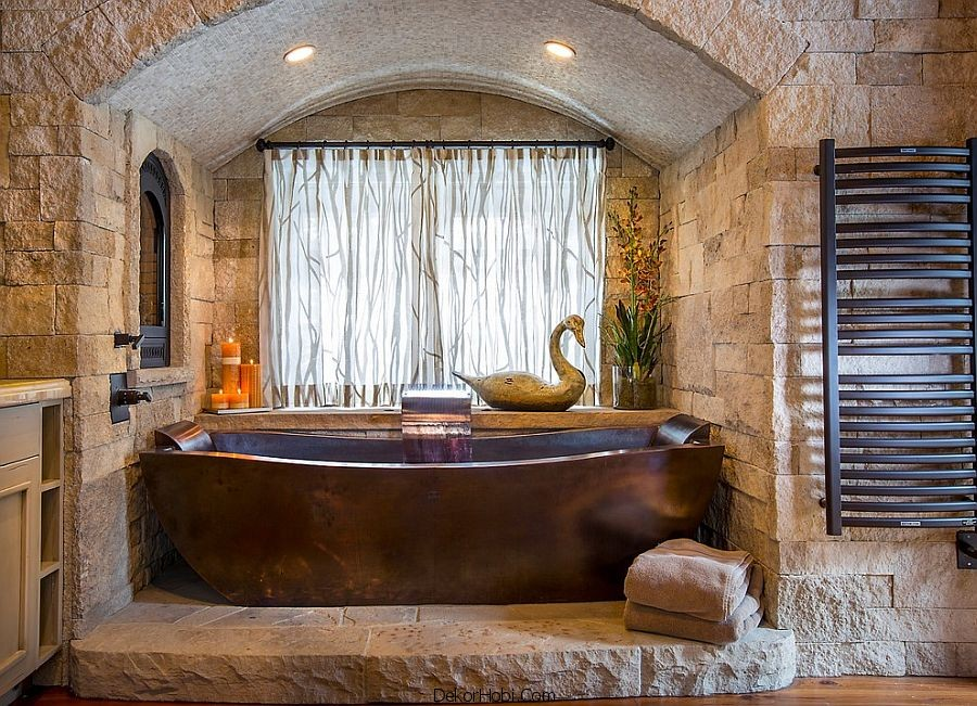 tas duvar gorunumlu banyolar