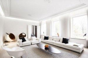 Beyaz Mobilyalar Oturma Odasi Dekorasyonu