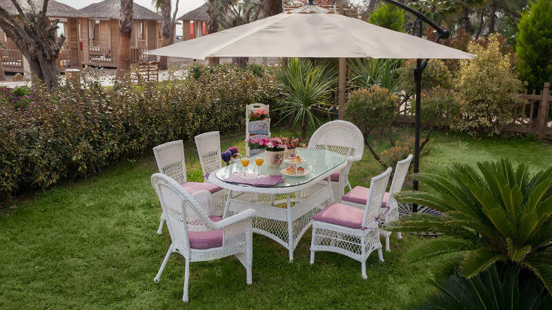 solar oval masa beyaz istikbal bahce mobilyasi