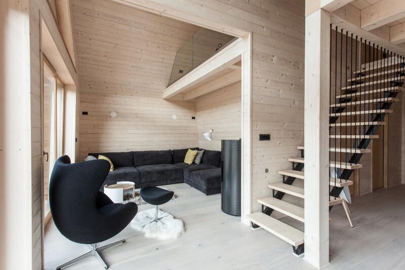 Küçük Ahşap Ev Salon