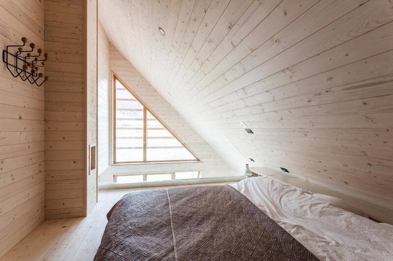 Küçük Ahşap Ev Yatak Odası