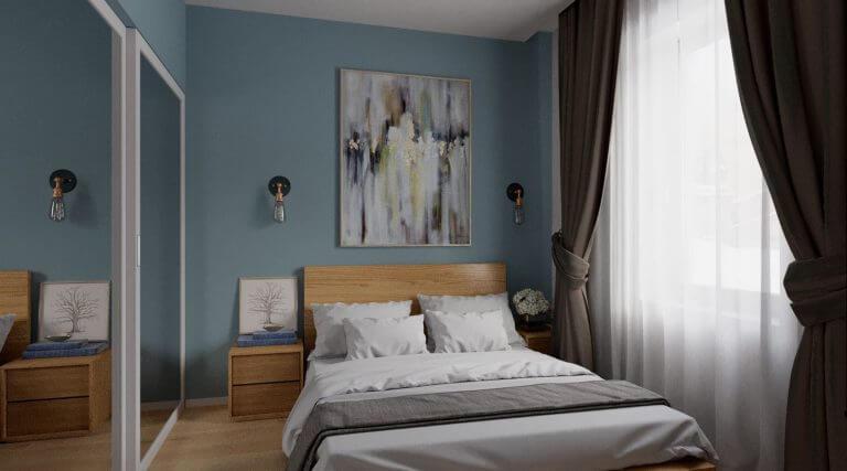 Stüdyo Daire Yatak Odası Dekorasyonu