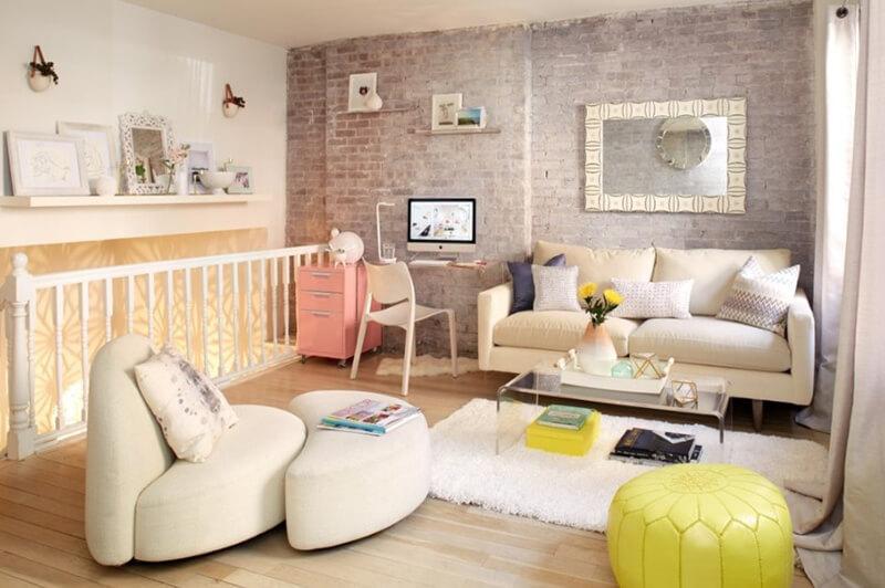 Pastel Tonlarda Oturma Odasi Dekorasyonu