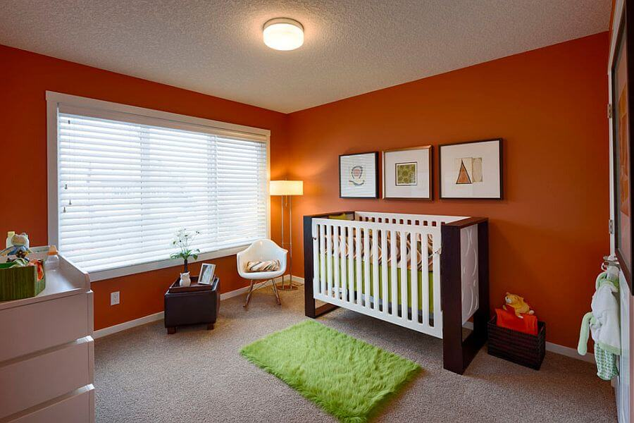 turuncu bebek odasi dekorasyonu
