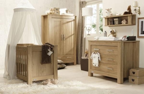 Ahsap Rustik Bebek Odasi Mobilya ve Dekorasyon Fikirleri