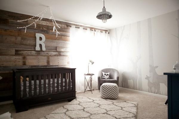 Rustik Bebek Odasi Tasarim Fikirleri Mobilya ve Perde Onerileri