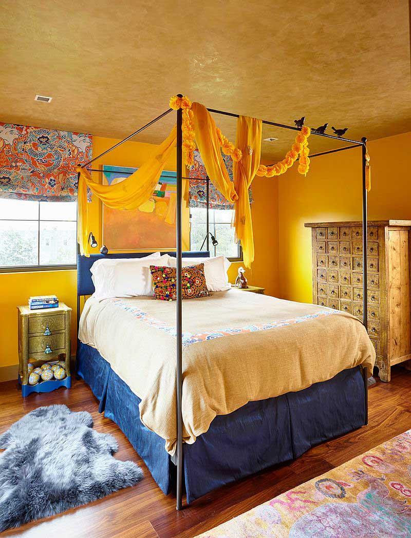 Sari-Renk-Yatak-Odalari-Dekorasyon-Fikirleri