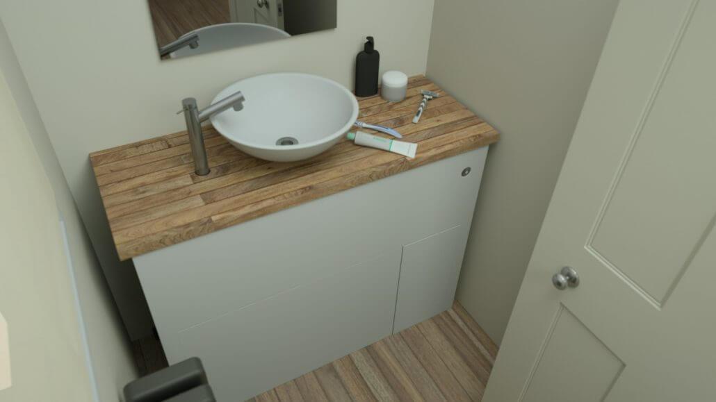 Banyo Lavabosu Altinda Tuvalet