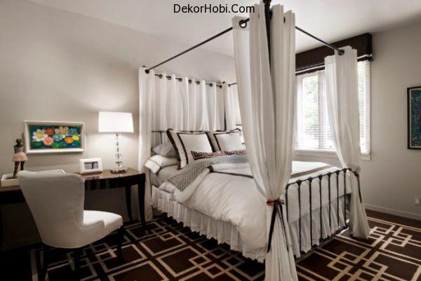 brown-modern-carpet-metal-bed