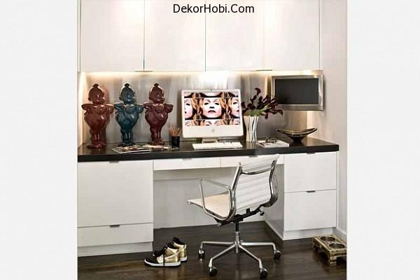 white-home-office-design
