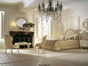 ÇAğdaş Krem rengi Mobilyalar ile Fransız Yatak Odası Modeli