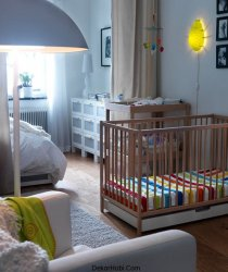Fantastik Ahşap Çocuk erkek bebek Ikea Çocuk Yatak Odası Parlak İç Aydınlatma