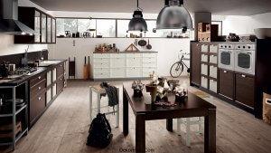 Siyah Beyaz Mutfak Tasarımı