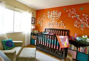 bebek odalarinda turuncu renk