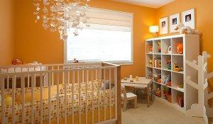 turuncu bebek odasi dekorasyonu nasil olmali